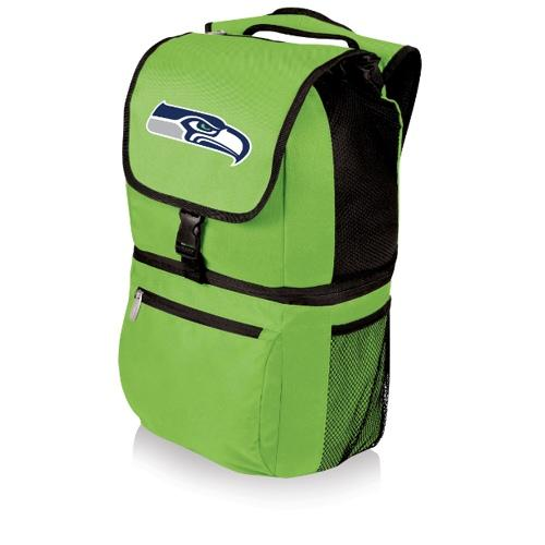 NFL Backpack Cooler by Picnic Time - Zuma, Seattle Seahawks - Lime