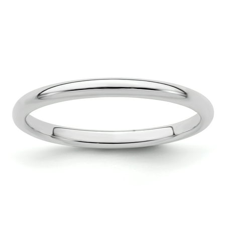 925 Sterling Silver 2mm Half Round Wedding Ring Band Size 4.50 Classic Domed Fine Jewelry For Women Gifts For Her - image 6 of 6