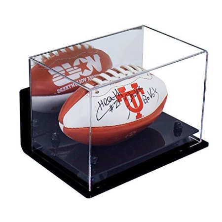 c27d68d3f99 Deluxe Acrylic MINI - Miniature (not full size) Football Display Case with  Black Risers Mirror and Wall Mount (A005-BR) - Walmart.com