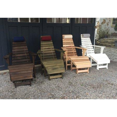 A & L Furniture New Hope Cedar Adirondack Chair & Ottoman Set with Optional Pillow