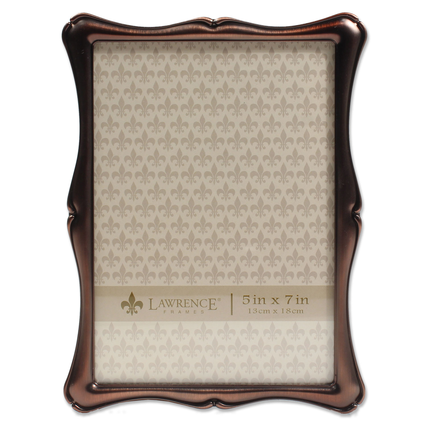 5x7 Oil Rubbed Bronze Romance Picture Frame by Lawrence Frames