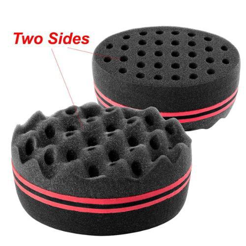 "Insten Double Sided Twists Hair Brush Sponge Locking Twist Coil Afro Curl Wave (Size: 5.51"" x 3.74"" x 2.76"") - Black"