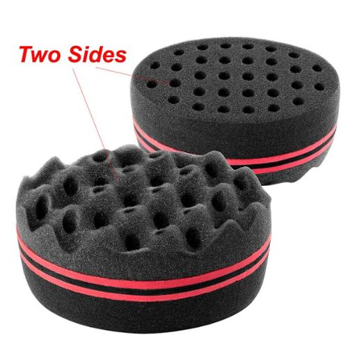 "Insten Double Sided Twists Hair Brush Sponge Locking Twist Coil Afro Curl Wave (Size: 5.51"" x 3.74"" x 2.76"") - Black"