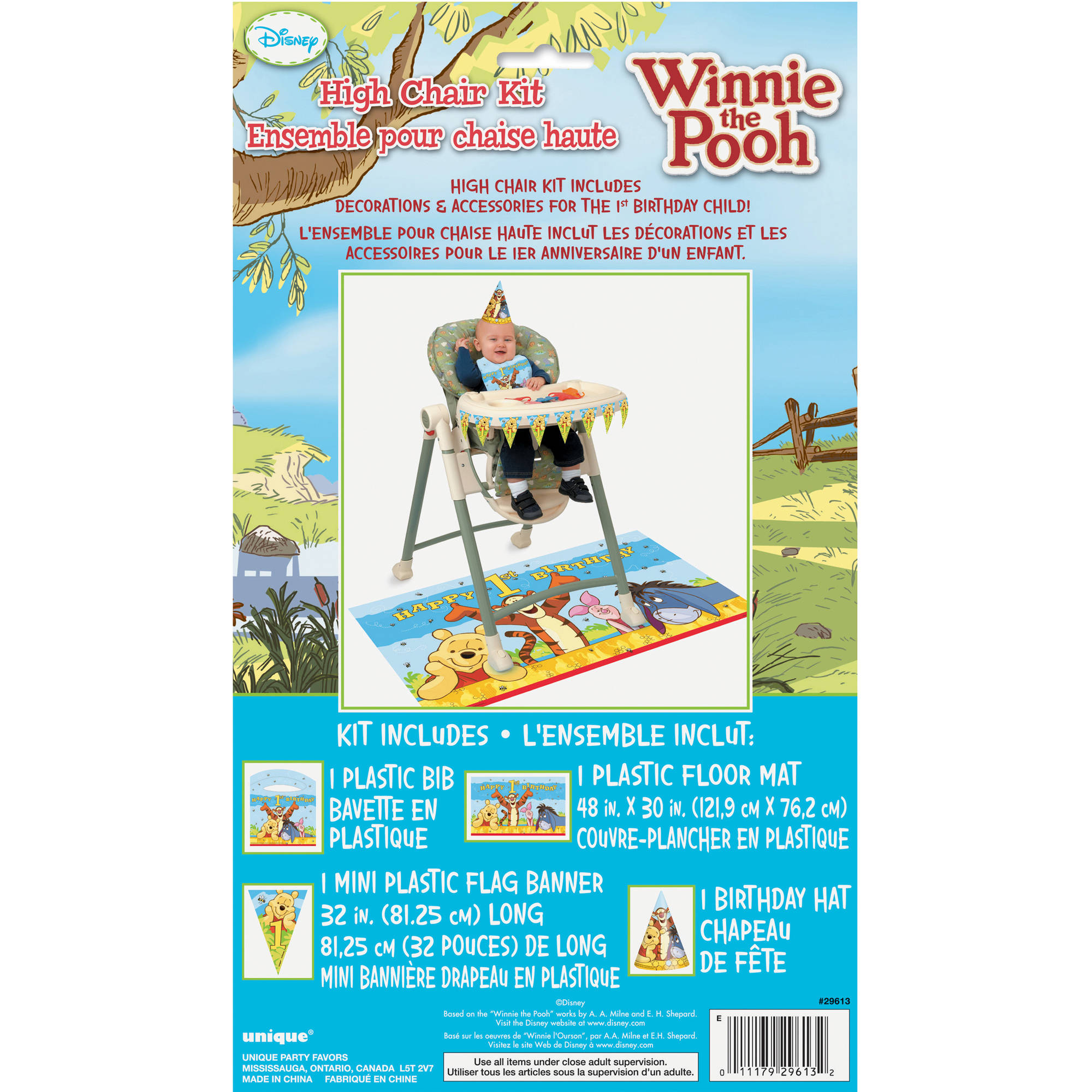winnie the pooh 1st birthday high chair decorating kit walmart com