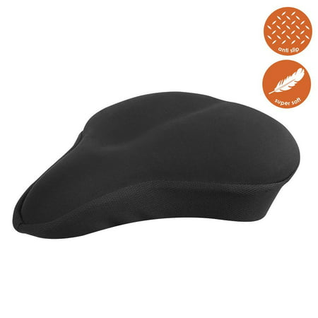 BV Bike Seat Cover - Extra Soft Memory Foam Bicycle Saddle Cushion for Stationary Bikes, Indoor Cycling, Spinning Class (Cycling Bicycle Bike Saddle)