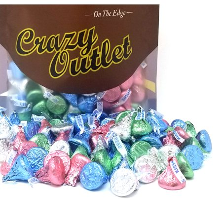 Hershey's Kisses Easter, Milk Chocolate, Pastel Colors (Pack of 1 Pound)
