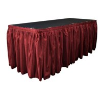 LA Linen Bridal Satin Table Skirt