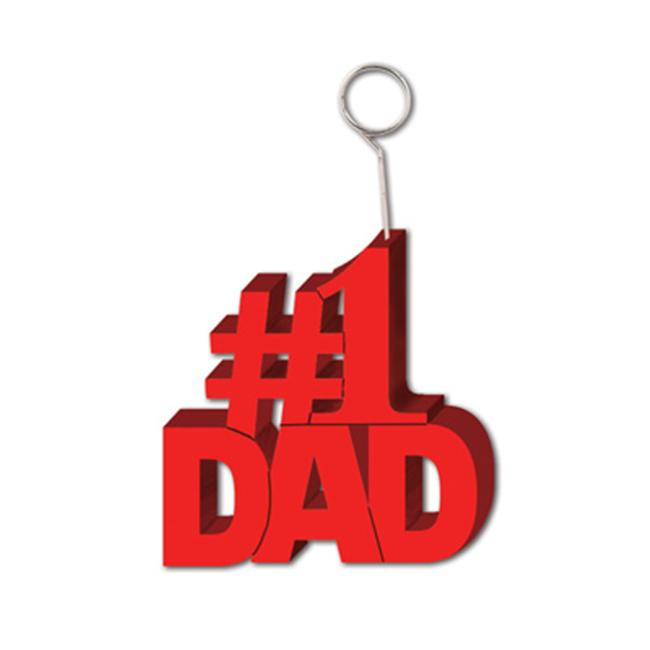 Beistle 57873 1 Dad Photo-Balloon Holder Pack of 6 - image 1 of 1