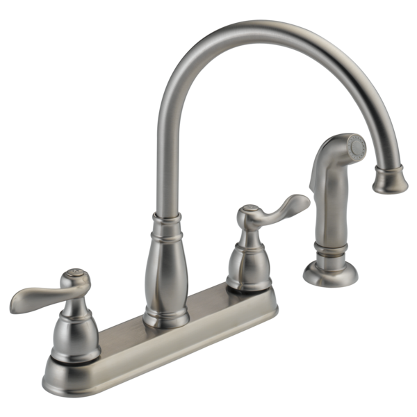 Delta Windemere Two Handle Kitchen Faucet In Chrome 21996lf Walmart Com Walmart Com