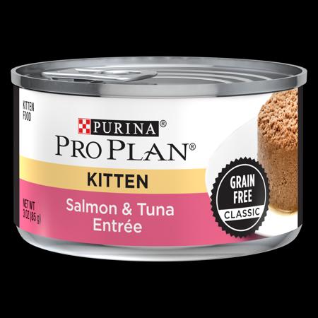 Purina Pro Plan Grain Free Pate Wet Kitten Food, Salmon & Tuna Entree - (24) 3 oz. Pull-Top