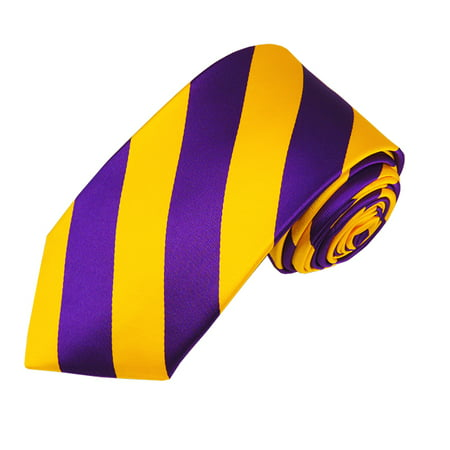 Gold College Stripe (Slim Purple and Gold College Stripe Woven Tie)