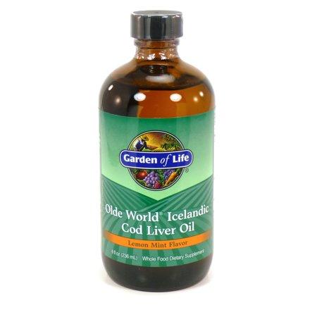 Garden of Life Cod Liver Oil Liquid, Lemon-Mint, 8