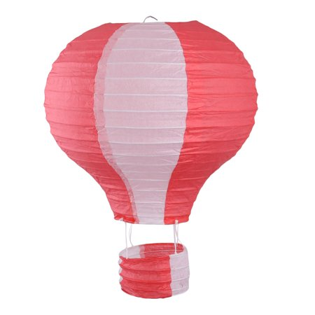 Paper Lightless Hanging Decor Hot Air Balloon Lantern Red White 10 Inch Dia](Hot Air Balloon Lanterns)