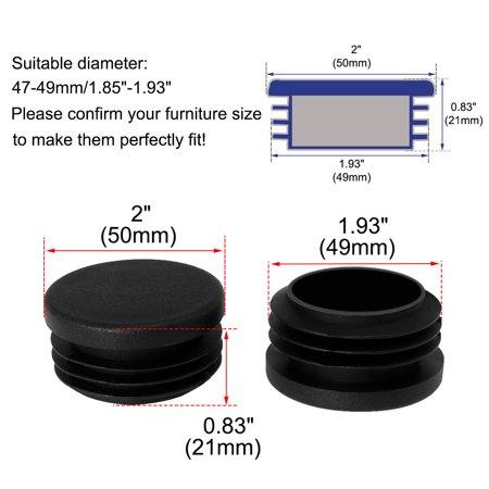 "50mm 2"" OD Plastic Tube Inserts Pipe 16pcs 1.85""-1.93"" Inner Dia Stool Legs - image 1 of 7"