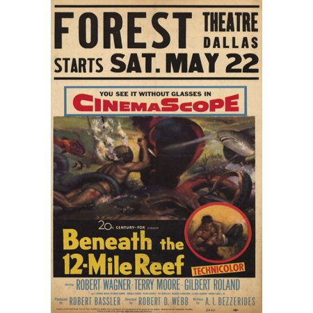 Beneath The 12 Mile Reef Movie Poster Print  27 X 40