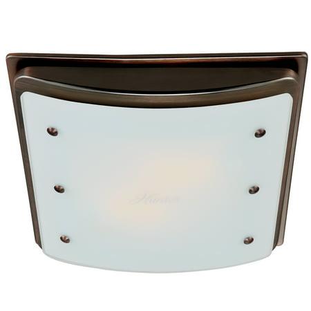 Ellipse Bathroom Fan with Light and Nightlight