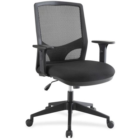 lorell executive mesh fabric swivel chair black