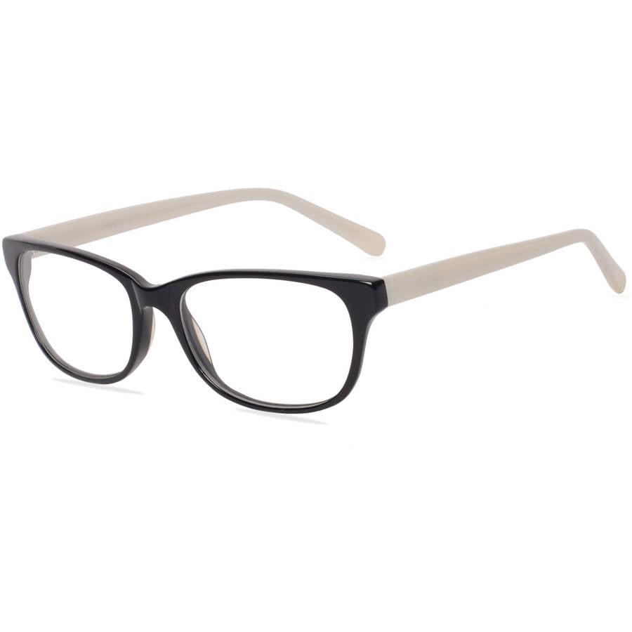 Contour Womens Prescription Glasses, FM14115 Black/Pearl White