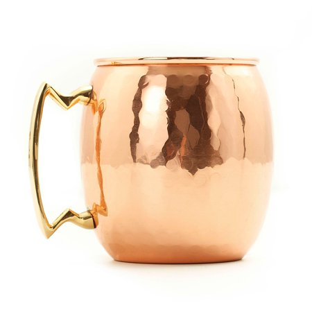 Old Dutch 16 oz. Hammered Copper Moscow Mule Mug - Set of 4