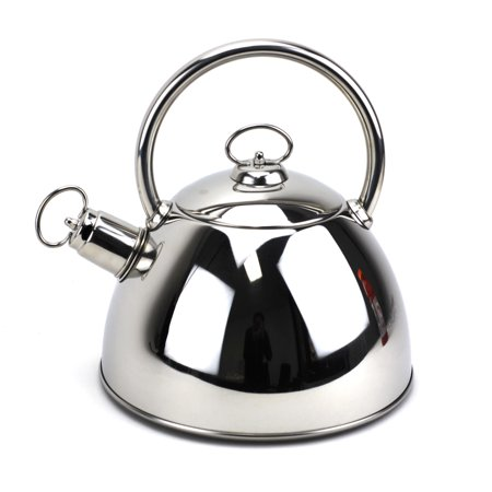 Whistling Kettle,Stainless Silver Tea Kettle with Lid,Silver