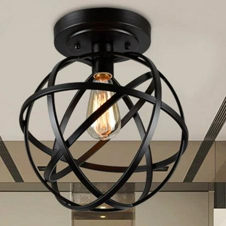 Emrael Antique Black Globe Ceiling Lamp - Mini Ceiling Lamp