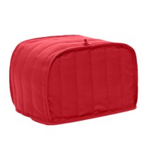 "Toaster Cover-Uarter Four Slice Toaster Cover Bread Toaster Cover Bread Toaster Protector, Fits Most Standard 4 Slice Toasters, Machine Washable, Red 12""*11""*8.5"""