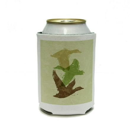 Flying Duck Design - Ducks Flying Design - Hunting Hunter Camouflage Can Cooler Drink Insulator Beverage Insulated Holder