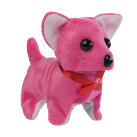Animatronic Walking Barking Toy Dog Kids Battery Operated Chihuahua Wagging