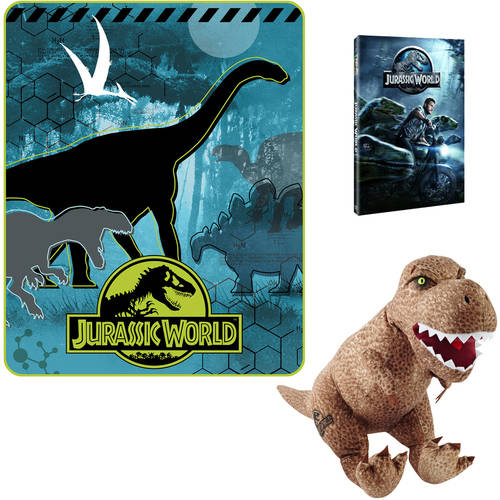 Jurassic World Blanket or Throw, Pillow Buddy and Jurassic World DVD