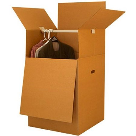 Uboxes Wardrobe Moving Boxes, 20x20x34in, 1 Pack, Tall (Best Place To Get Packing Boxes)