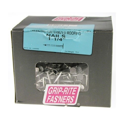 Prime Source 5-lb Electro Galvanized Roofing Nails, 1-1/4""