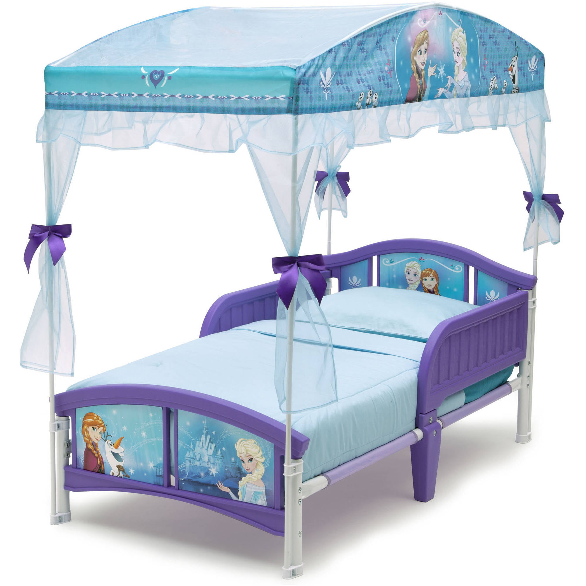 Delta Children Disney Frozen Plastic Toddler Canopy Bed Purple - Walmart.com  sc 1 st  Walmart & Delta Children Disney Frozen Plastic Toddler Canopy Bed Purple ...