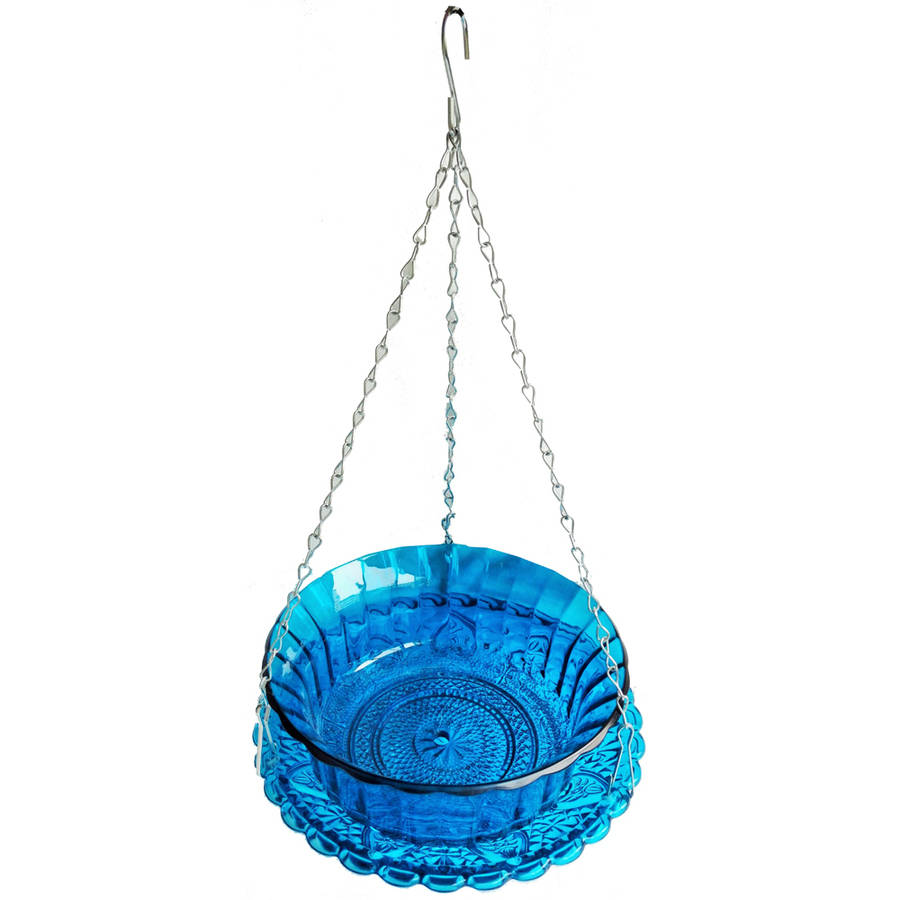 VCS Hanging Glass Planter Blue by Very Cool Stuff
