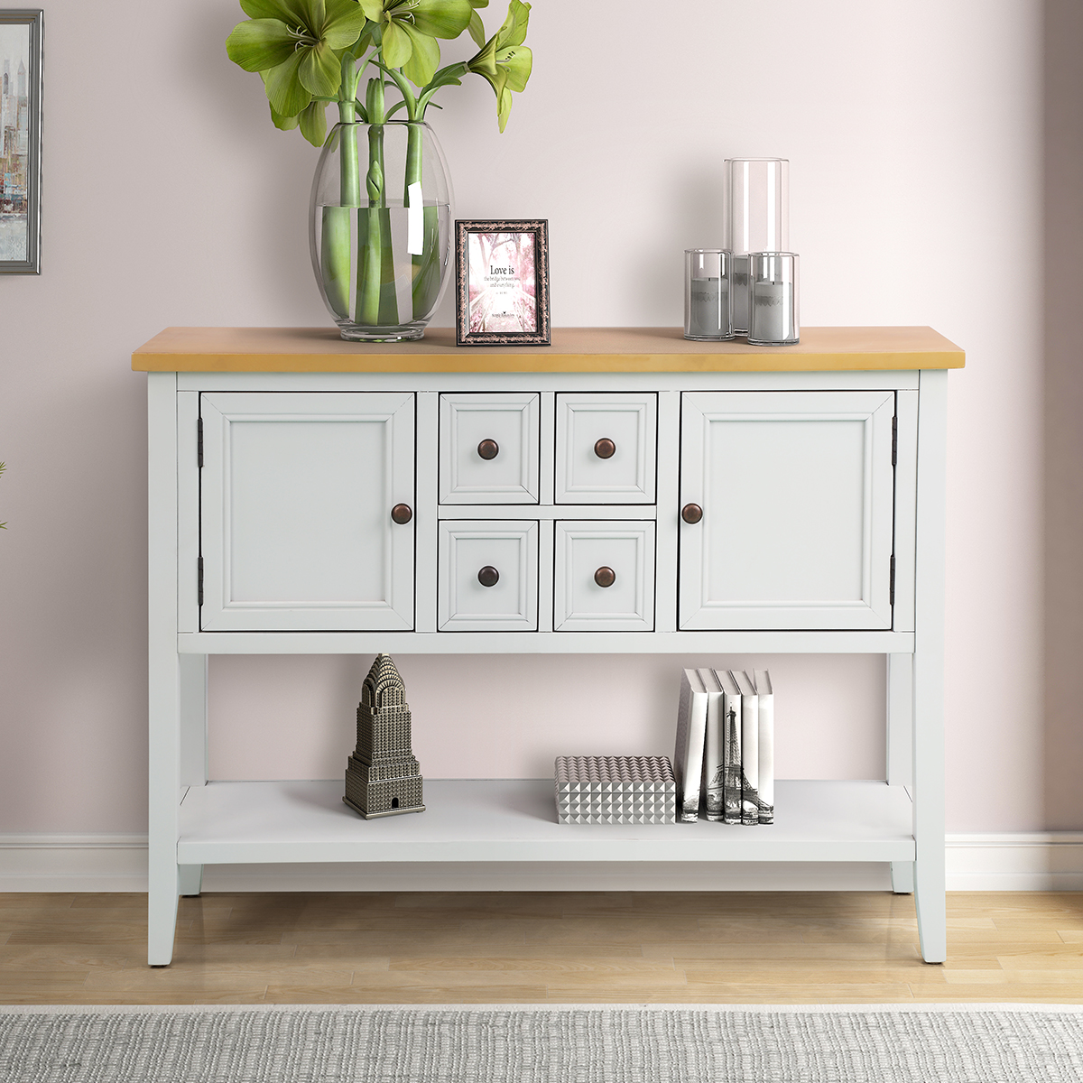 Console Table Buffet Sideboard 46 Quot Stylish Buffet Cabinet