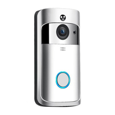Cluxwal Intelligent WiFi Video Doorbell, Camera WiFi Doorbell, Wireless Front Door Camera with Doorbell Chime, Battery Power Operated with Motion Detector Audio&Speaker for iOS&Android Phone