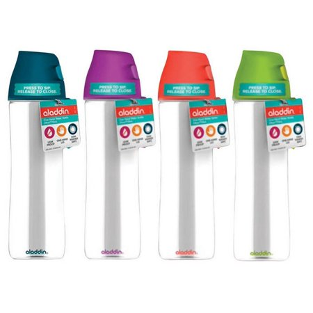 Aladdin 10-01914-001 One-Handed Water Bottle, Assorted Color