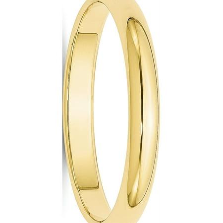 USA - 10k Yellow Gold 3mm Half Round Band Size 4