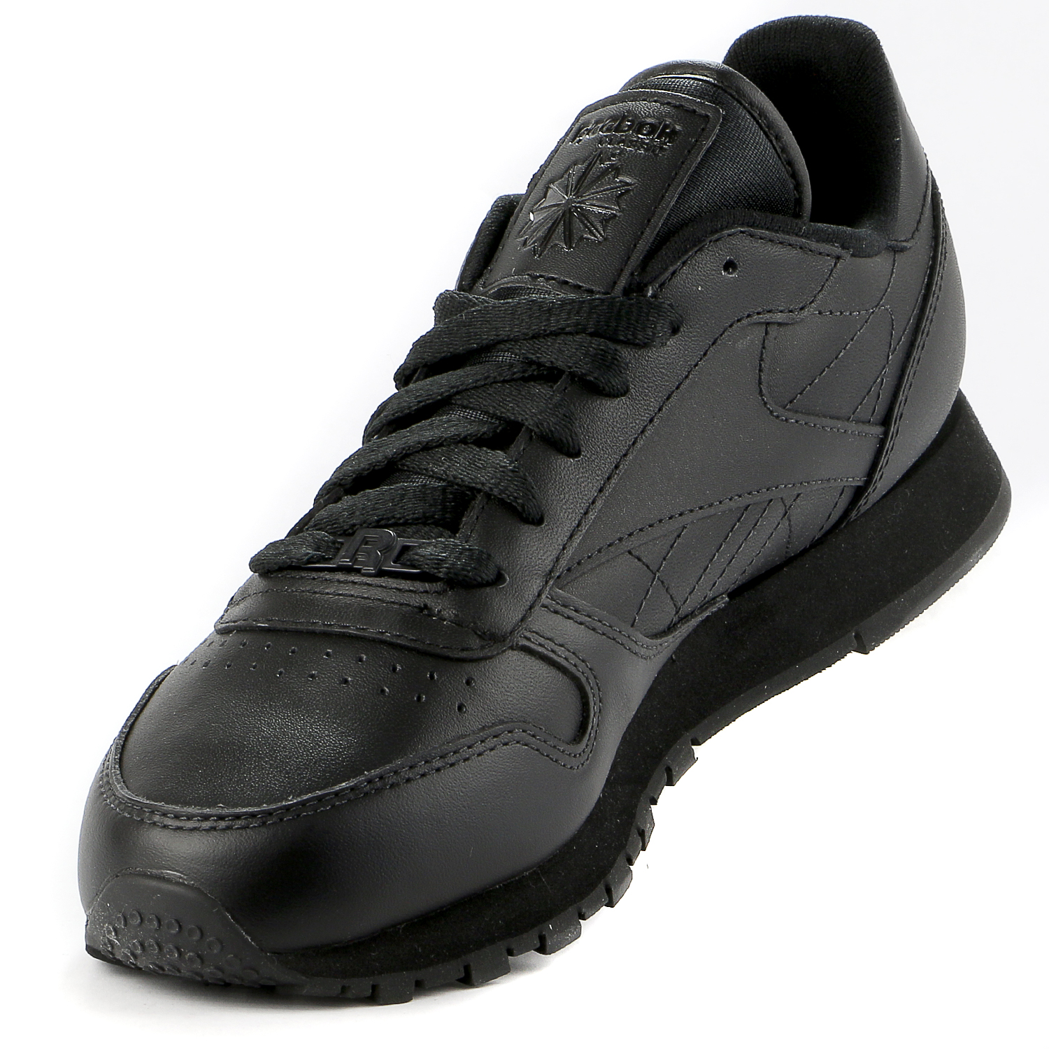 Reebok Classic Leather Casual Sneaker Shoe - Black - Womens