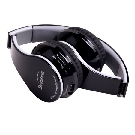 New Beyution@ Black color smart Stereo Hi-Fi Wireless Bluetooth Headphone---for all Tablet MID, Smart Cell phone and all bluetooth device---With Retail Package, best