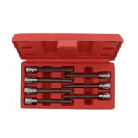 """ABN Extra-Long SAE Standard Socket 7-Piece Set 3/8"""" Inch Hex Dr 1/8–3/8"""" Sizes"""