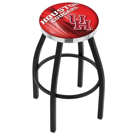 Houston 30 Inch L8B2C Black Wrinkle With Accent Ring Bar Stool ()