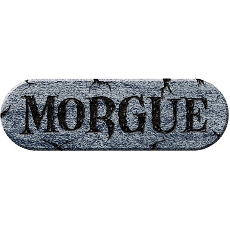 Morgue Foam Plaque Adult Halloween Accessory - Morgue Sign