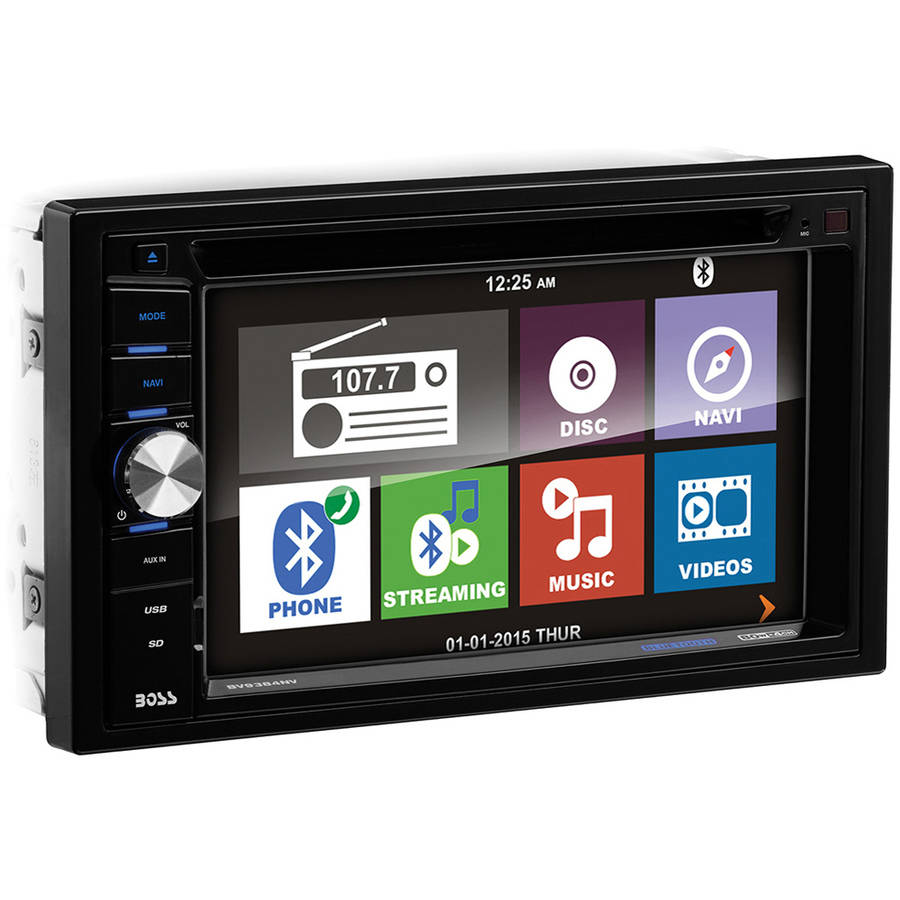 "Boss Audio BV9384NV Bluetooth Double-DIN DVD Player with 6.2"" Touchscreen Monitor and Navigation"