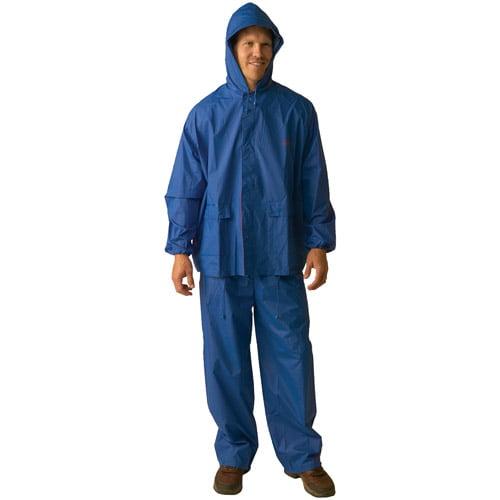 Texsport Laminated Nylon RainSuit, Blue