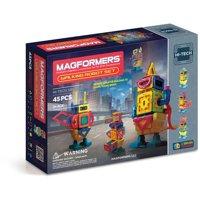 Magformers Hi-Tech Walking Robot 45 Pieces, Rainbow colors, Magnetic Geometric tiles STEM Toy Ages 3+