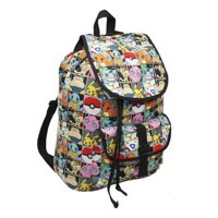 """16"""" This Pokemon canvas ruck backpack has many different pokemon designed all over it"""