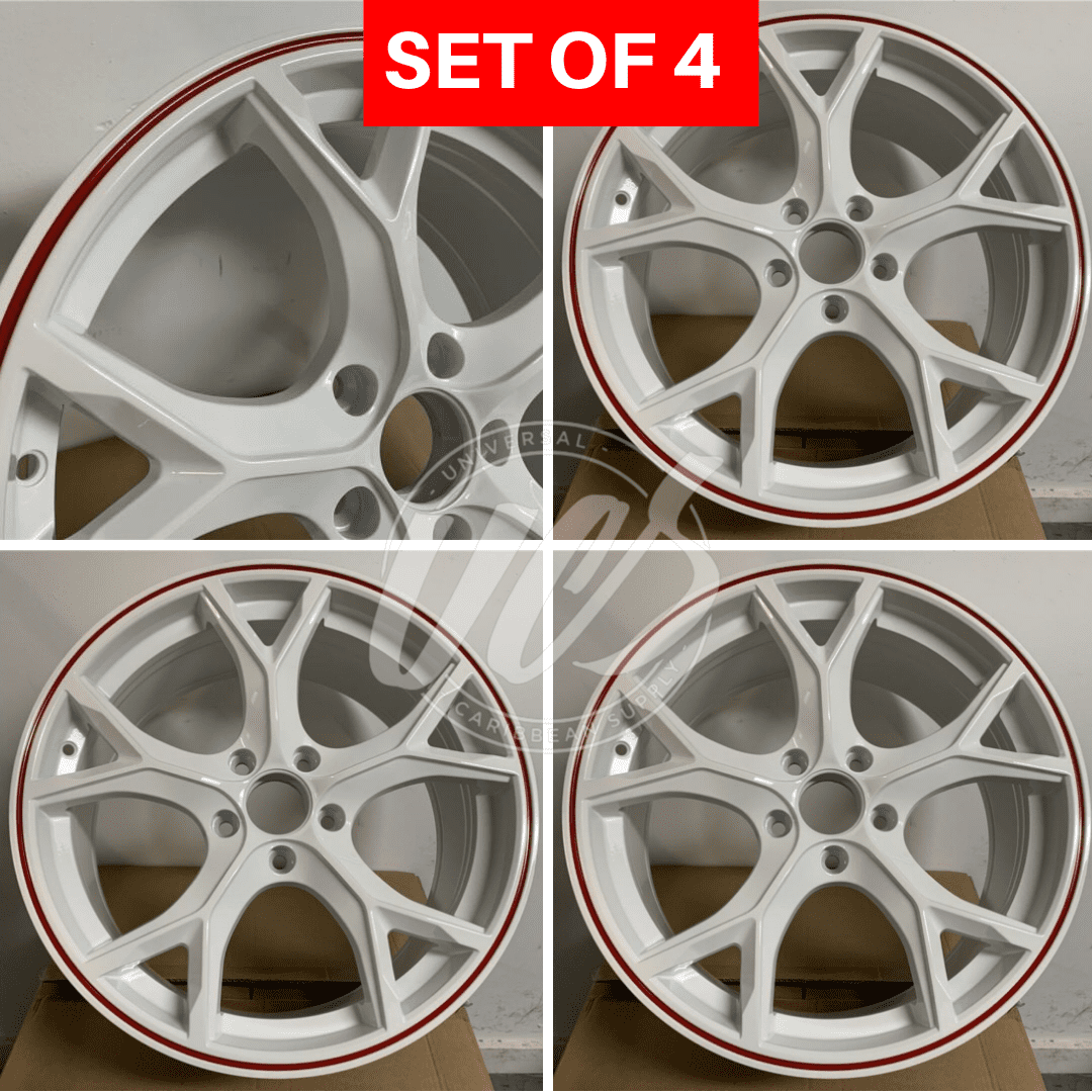 New 17 Inch X 7 5 Alloy Wheels Rims Compatible With Honda Civic 5 Lug Red 42 Offset Set Of 4 Walmart Com Walmart Com
