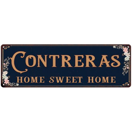 CONTRERAS Home Sweet Home Victorian Personalized 6x18 Metal Sign 106180046939 (Personalized Sweets)