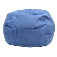 Small/Toddler Denim Look Bean Bag with Cargo Pocket