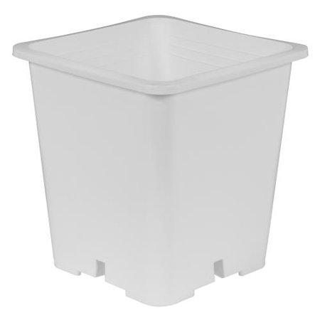 Gro Pro Premium White Square Pot 9 in x 9 in 10.5 in (100/Cs)
